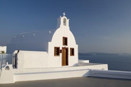 holiday destination: Santorini Island - summer holiday destination in Greece Stock Photo