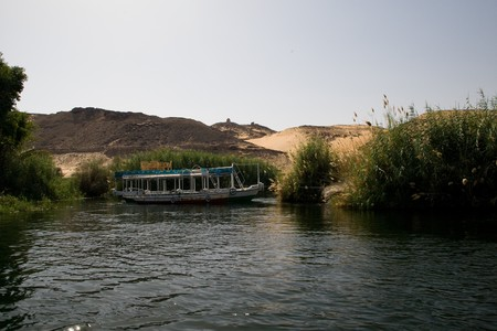 ASWAN, EGYPT - MAY 27: We take a closer look at life on Nile River on MAY 27, 2008, while having a felucca sailboat ride from Aswan to Elephantine Island and to a nubian village.