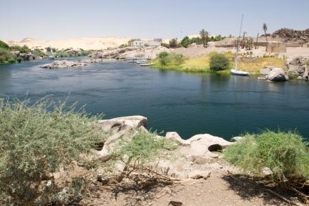 View of Nile River near Aswan, Egypt photo