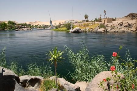 View of Nile River near Aswan, Egypt