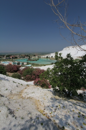 carbonate: Pamukkale - terraces of carbonate minerals left by the flowing water