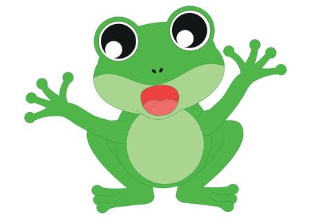Illustration of Cartoon Frog. Frog who Sings