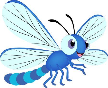 Cartoon Dragonfly. Vector Cartoon Dragonfly