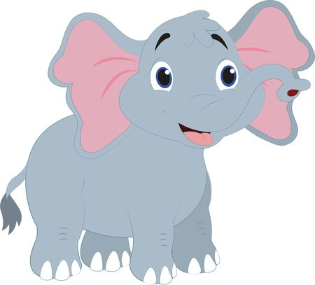 Cartoon Elephant. Vector Elephant