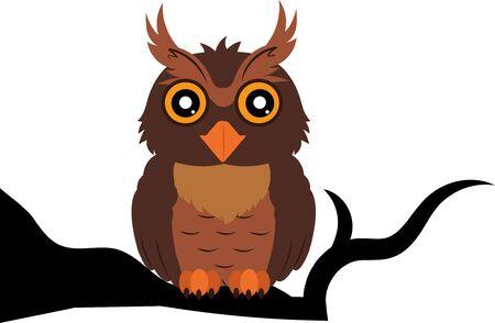 Clipart Owl. Vector Owl Illustration