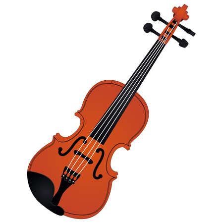 Violin. Brown Violin. Musical instrument