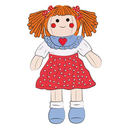 Toy Doll. Cartoon Dolly