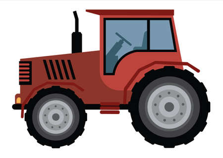Clipart Agriculture Machine Tractor. Vector Illustration of Tractor
