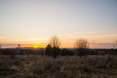 Sunset over the tract Steep