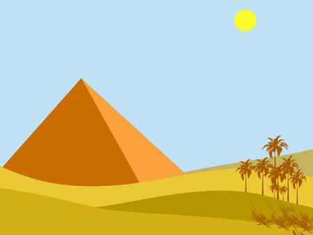 egypt pyramid: illustration of egypt pyramid and shining sun