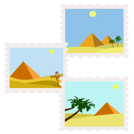 postman of the desert: illustration of egypt postage stamps not used