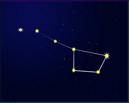 illustration of strar sky  with big dipper Vector