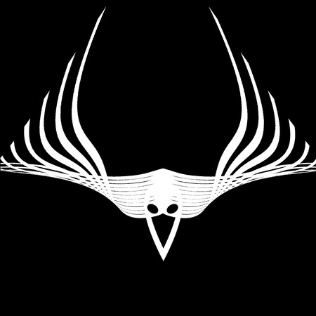 abstract wings raven Vector