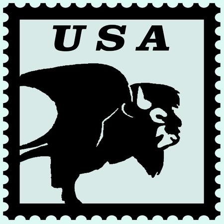 предмет коллекционирования: illustration of usa postage  stamp