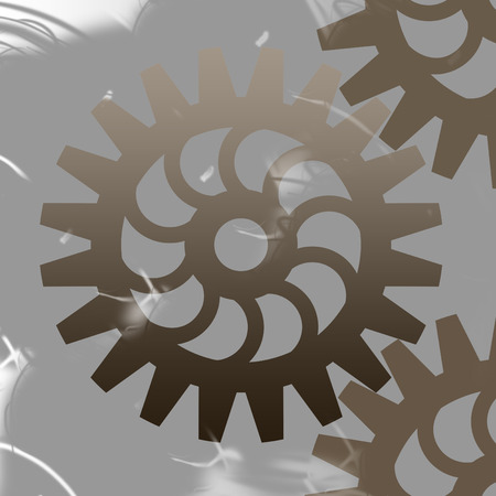 gearings: illustration of abstract cogwheel background
