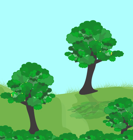 illustration of green forest Stock Vector - 7092007