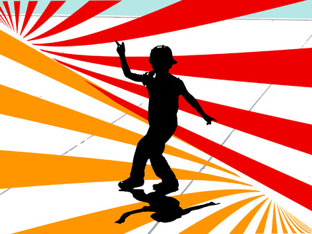 small dancer on stage                                Vector