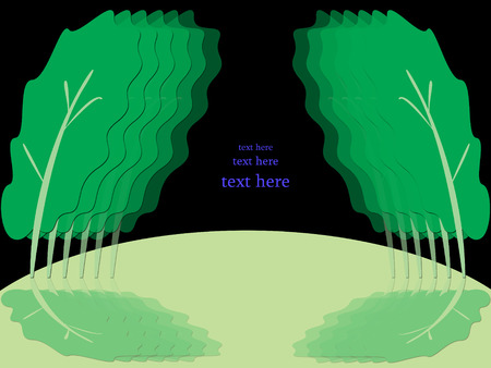 illustration of trees background with space for text Vector