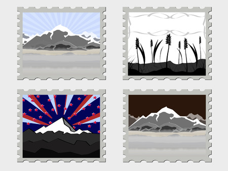 some abstract stamps Vector