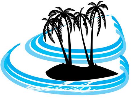 palm island Vector