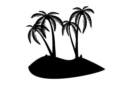tropical island Stock Vector - 7558500