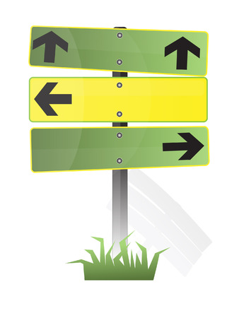 road signs with free space Stock Illustratie