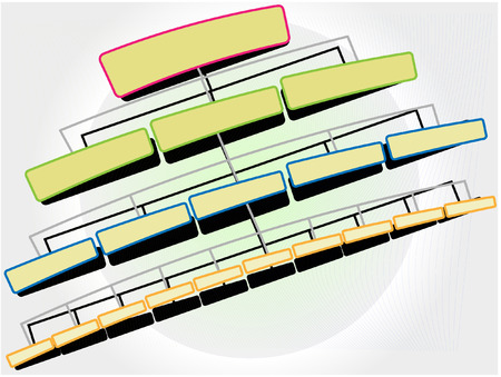 hierarchical:  illustration  structure on white background