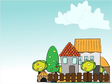 illustration cartoon country Vector
