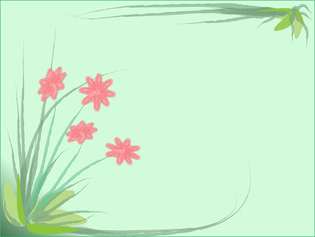 abstract flowers and grass Vector
