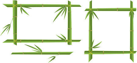 green bamboo frame isolated Stock Illustratie
