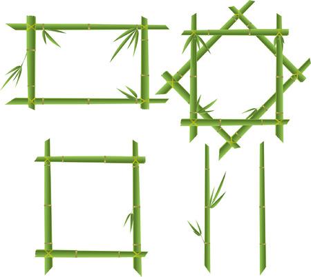 green set bamboo frames Stock Vector - 7846414