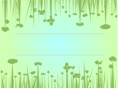 green flowers background Stock Vector - 7879260
