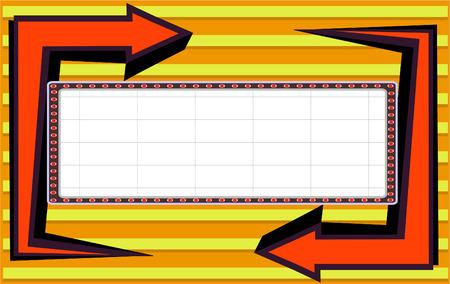 color billboard orange Stock Vector - 7983862