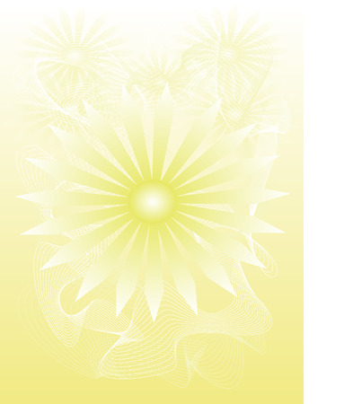 hot shining sun Stock Vector - 8034924