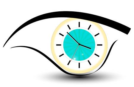 office clock: ojo de reloj