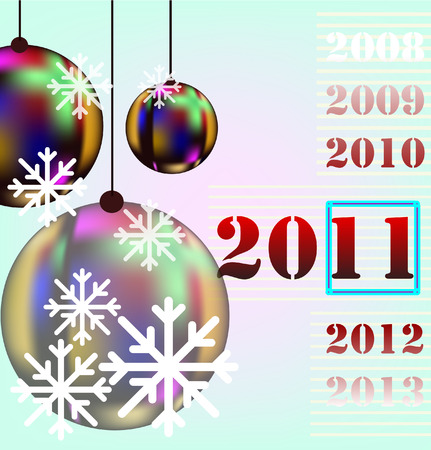 new year background illustration Vector