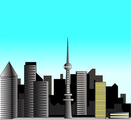 panporama urban city Stock Vector - 8187279