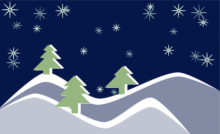 winter forest Stock Vector - 8253626