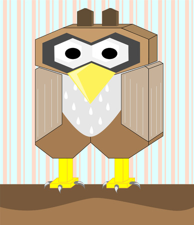 cartoon owl background Vector