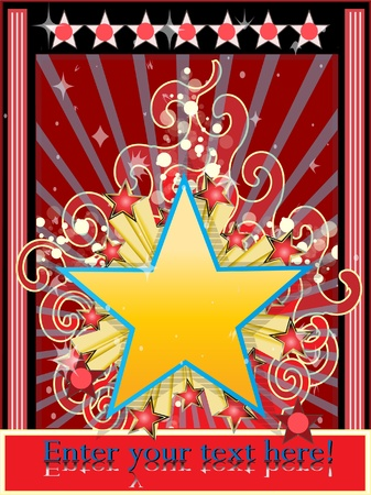 Star background classic vector illustration Stock Vector - 8892746