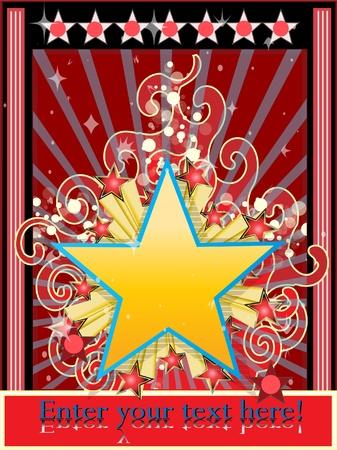 pop star: Star background classic vector illustration  Illustration