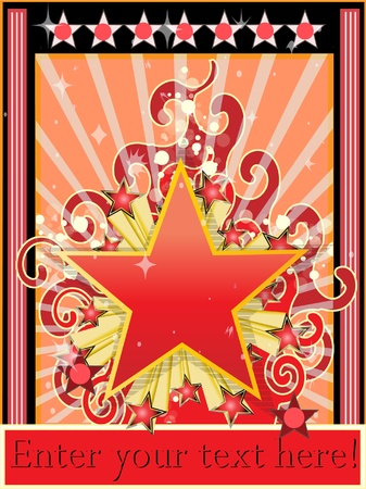 Star background classic vector illustration Stock Vector - 8892745