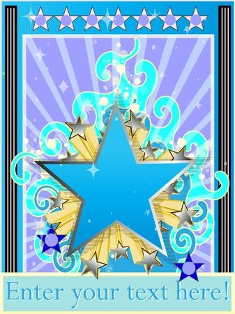 star background: Star background classic Vector illustration  Illustration