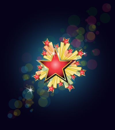 abstract star explode