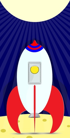 space rocket cartoon illustration Stock Vector - 8938357