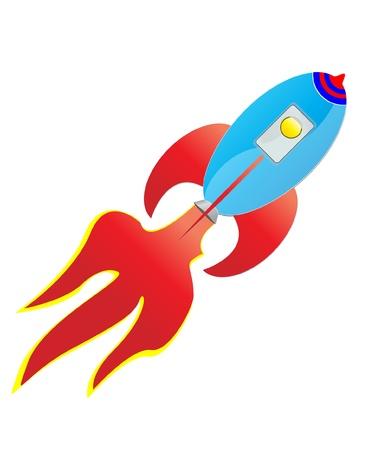 Cartoon rocket Vector illustration
