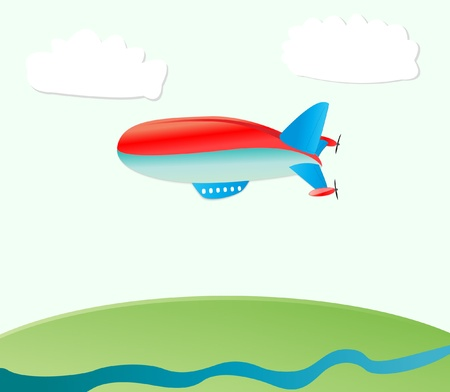 airship nature background Vector