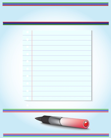 Paper and pen Vector