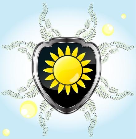 black shield background Stock Vector - 9199976
