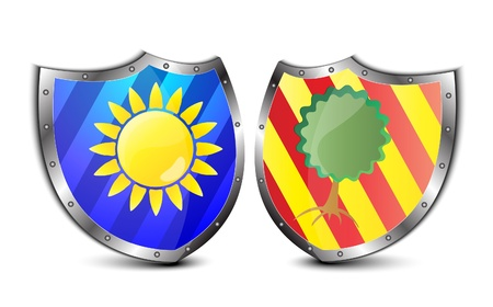 old shields vector illustration Stock Vector - 9302993